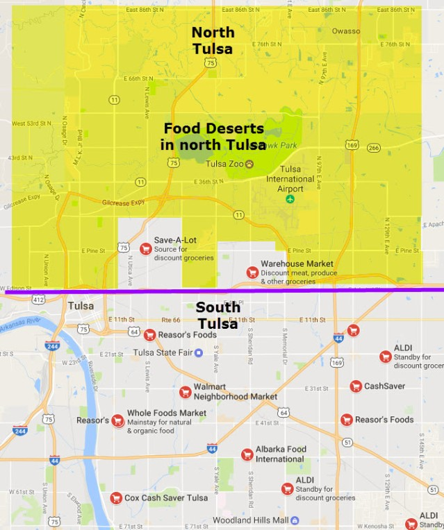 Food Deserts Mean Poor Health For North Tulsans The Black Wall - Us food desert map